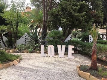 Letras de luces para bodas Malaga