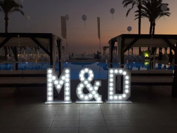 Light up initials at la Cabane Marbella