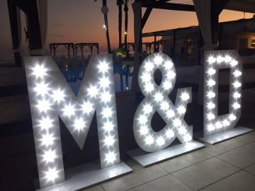 Iniciales con bombillas, Malaga
