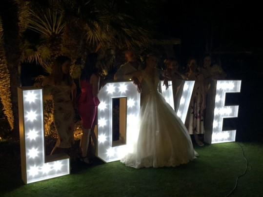 Giant Love Letters for weddings