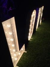 Letras de luz con bombillas tipo feria, Malaga