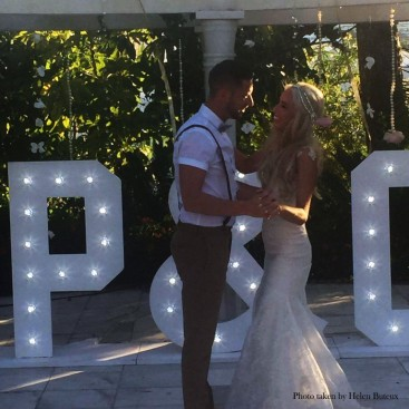 Lights up letters for weddings