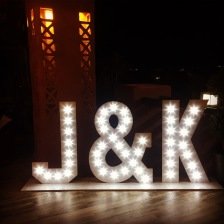 Illuminated letters for hire Tikitano Marbella