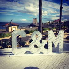 Lightup letters for hire at finca cortesin beach club Malaga
